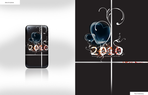 2010 iPhone Skin + wallpaper by RC-man-Design