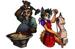 Commission - Fox and Bear Cosplay Logo by TheLivingShadow
