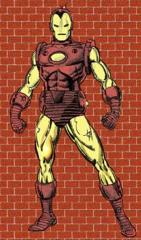Iron Man colored by YosiPel