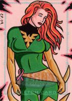 Phoenix Sketch Card 2 by ElainePerna