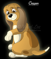 Copper pup by Velvet-Loz