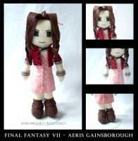 FF7 - Aeris Gainsborough plush by momoiro-machiko