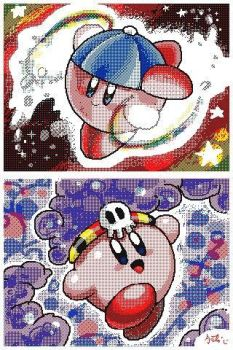 Kirby Planet Robobot ESP and Poison by Kokorokeke