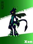 Anthropomorphic Dragon - Xen by Dragon-FangX