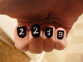Sherlock Nails by ivy11