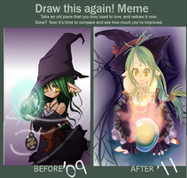 Before and After meme- Little Wiccan by Konazumi