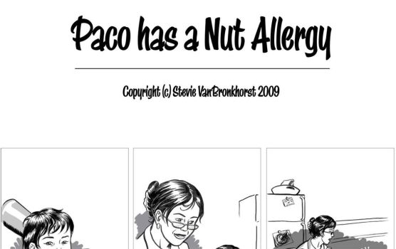 Paco has a nut allergy. by Spools