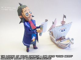 Paper Linebeck+Going Merry by ninjatoespapercraft