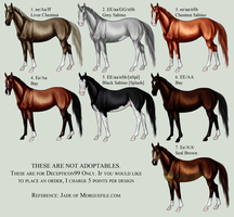 7 stock horses for decep by monochromexnight