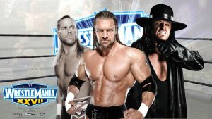 Triple H vs Undertaker WM27 by i-am-71