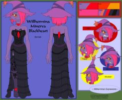 Commish - Willhermina Blackheart Ref formal by shaloneSK