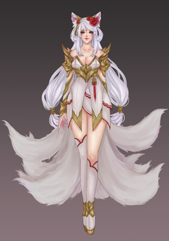 Ahri Skin concept by SinfloraX