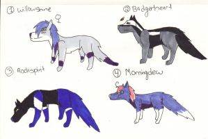 Wolf Pack adopts#2 (open) REDUCED by XTwilight-SerenityX