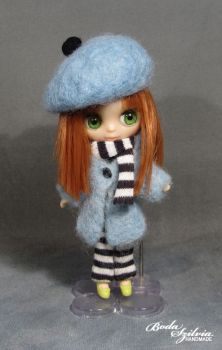 Petite Blythe winter coat and beret by bodaszilvia