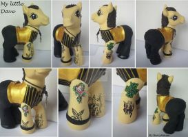 My little Pony Custom - Dave Gahan - Depeche Mode by BerryMouse