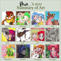 2011 Art Summary by Phoelion