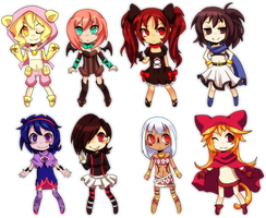 Chibi Adoptables Batch 4 (Open!) by Sandette