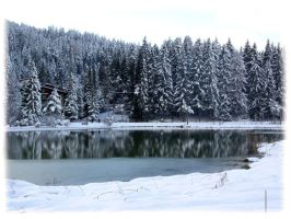 winter at the lake 1 by austriangirl