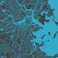 Boston by MapMapMaps