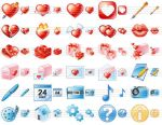 Delicious Love Icons by Ikonod