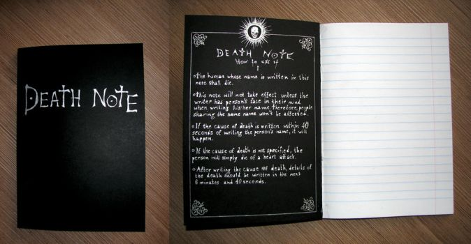 Hand-made Death Note by bloajd