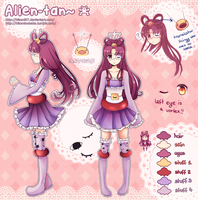 Reference Sheet: Alien-tan (nameless OC) by Hitomi97