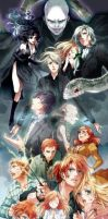 harry potter anime style by anamangagal