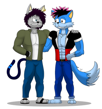 FM Gift: Alex and ren by skull1045fox
