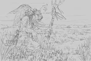 The Marshes (Sketch) by Heyriel