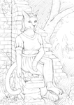 Old Garden Wall [sketch] by Dahtamnay