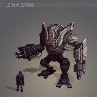 90's War robot by juannahuel