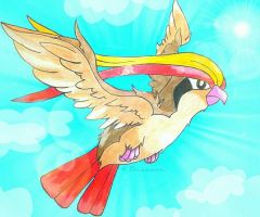 Pokemon Drawing Challenge Day #3: Pidgeot by ApocalypseKitty