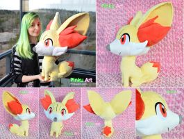 Lifesize Fennekin plush - more views