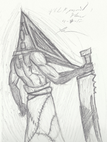 Homecoming Pyramid head sketch by GingaAkam