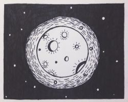 The moon by interplanetaryghost