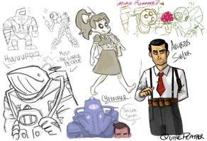 Bioshock Sketch 02 by QuinePeather
