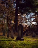 Sheepfold Cemetery at sunset by TheBrassGlass