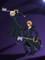 .::Xairei and Roxas::. by Xaireii