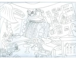 Clown Trailer Layout by Animator-who-Draws