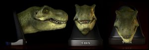 T-Rex closed mouth by EderCarfagnini