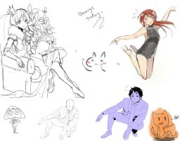 some of yesterdays drawings by WaffleNut