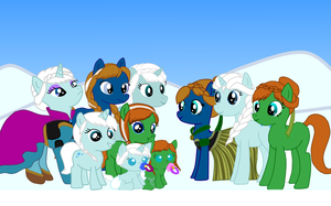 Frozen Ponies by roxybaby528