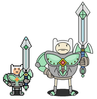 Adventure time RPG: Finn's battle armor by tebited15