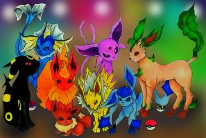 Eeveelutions by RustiiAqua