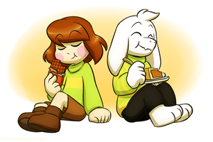 UT: Chocolate and Butterscotch-Cinnamon Pie by HoshiNoUsagi