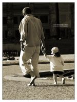 Let's have a walk, daddy by bupo