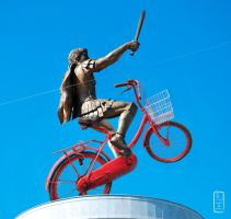 Warrior on a Bicycle by rantasa