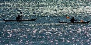 Kayak on the Hudson by namespace