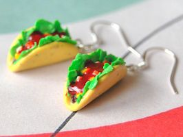 Taco Earrings by Madizzo