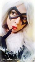 Black Cat cosplay, thinking on....who? by Suki-Manga